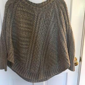 Angel of the North cable knit poncho